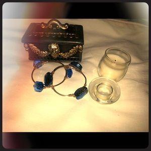 Vintage blue bracelets
